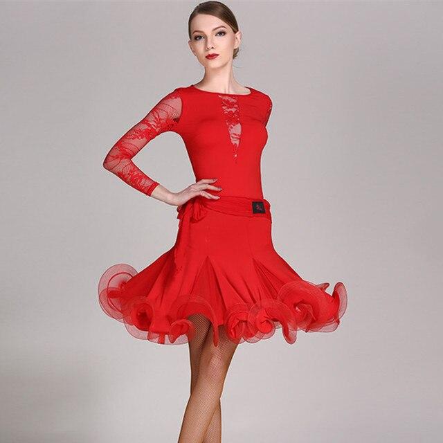e4762df9054 lace latin dance costumes for women latino dress dance latin rumba dance  dresses fringe women latin dress tango salsa top skirt