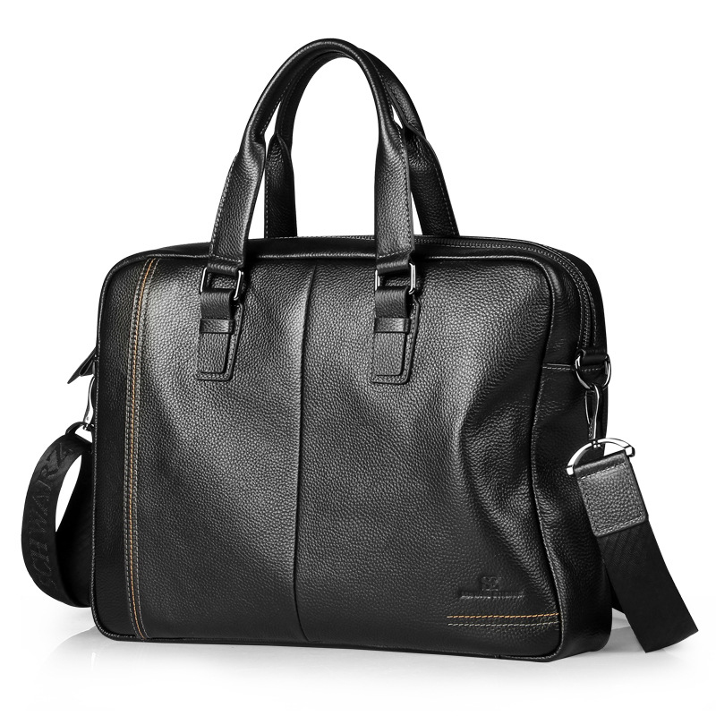 Mens New Hot Genuine Leather Retro Business Office Travel Computer Bag Solid Color Handsome Business Large Capacity HandbagMens New Hot Genuine Leather Retro Business Office Travel Computer Bag Solid Color Handsome Business Large Capacity Handbag