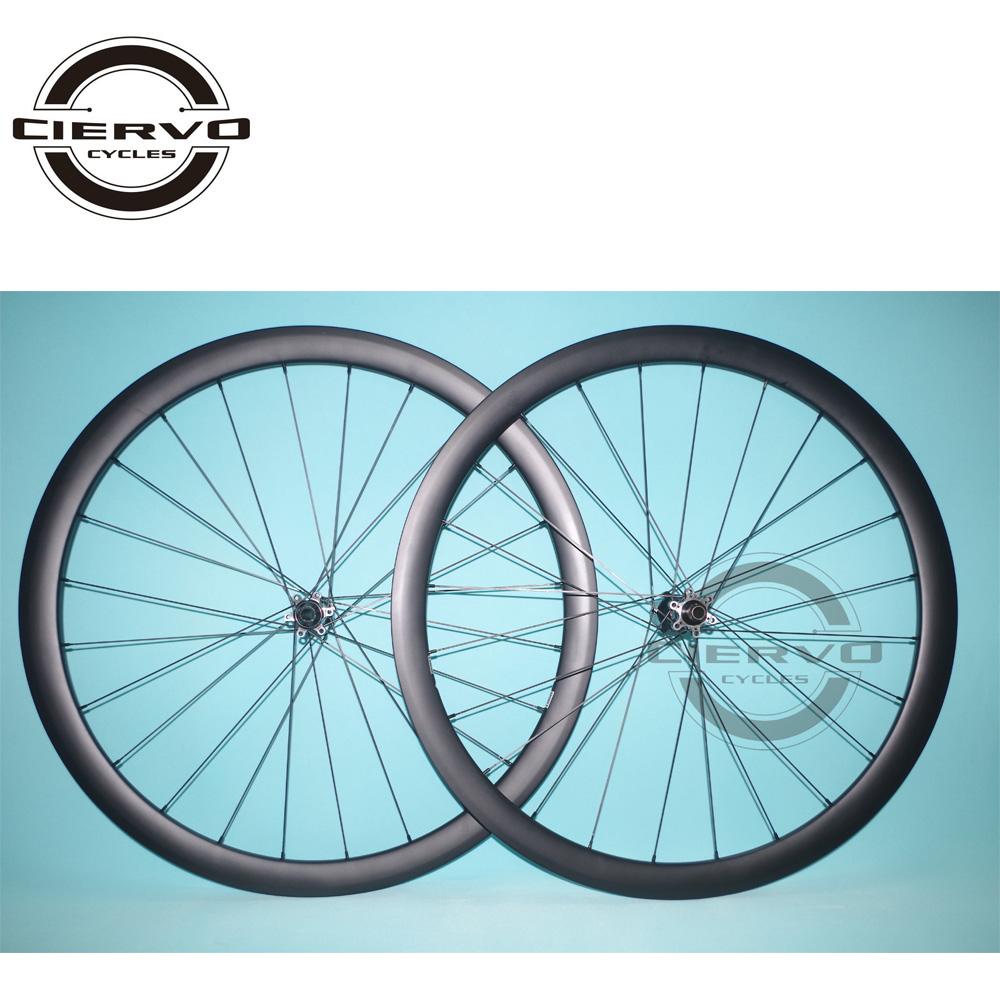 38mm x 25mm Clincher Tubeless Road Disc Wheels Straight Pull U shaped Carbon Wheelset Disk Brake 24 holes UD 3K 12K