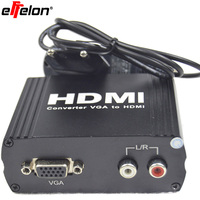 Free Shipping 1080P Video Converter Box Adapter Audio VGA To HDMI HD HDTV For PC Laptop