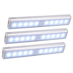 Image 1 - אלחוטי LED תחת קבינט אור PIR חיישן תנועת מנורת 6/10 נוריות עבור מלתחת ארון ארון מטבח תאורת Led לילה אור