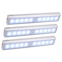 Wireless LED Under Cabinet Light PIR Motion Sensor Lamp 6/10 LEDs for Wardrobe Cupboard Closet Kitchen Lighting Led Night Light