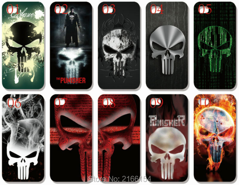 US $15 1 |Wholesale lot punisher Plastic Hard Cell Phone Cover For iphone  4S 5 5S SE 5C 6 6S 7 Plus For iPod Touch 4 5 6 Mobile Case on  Aliexpress com