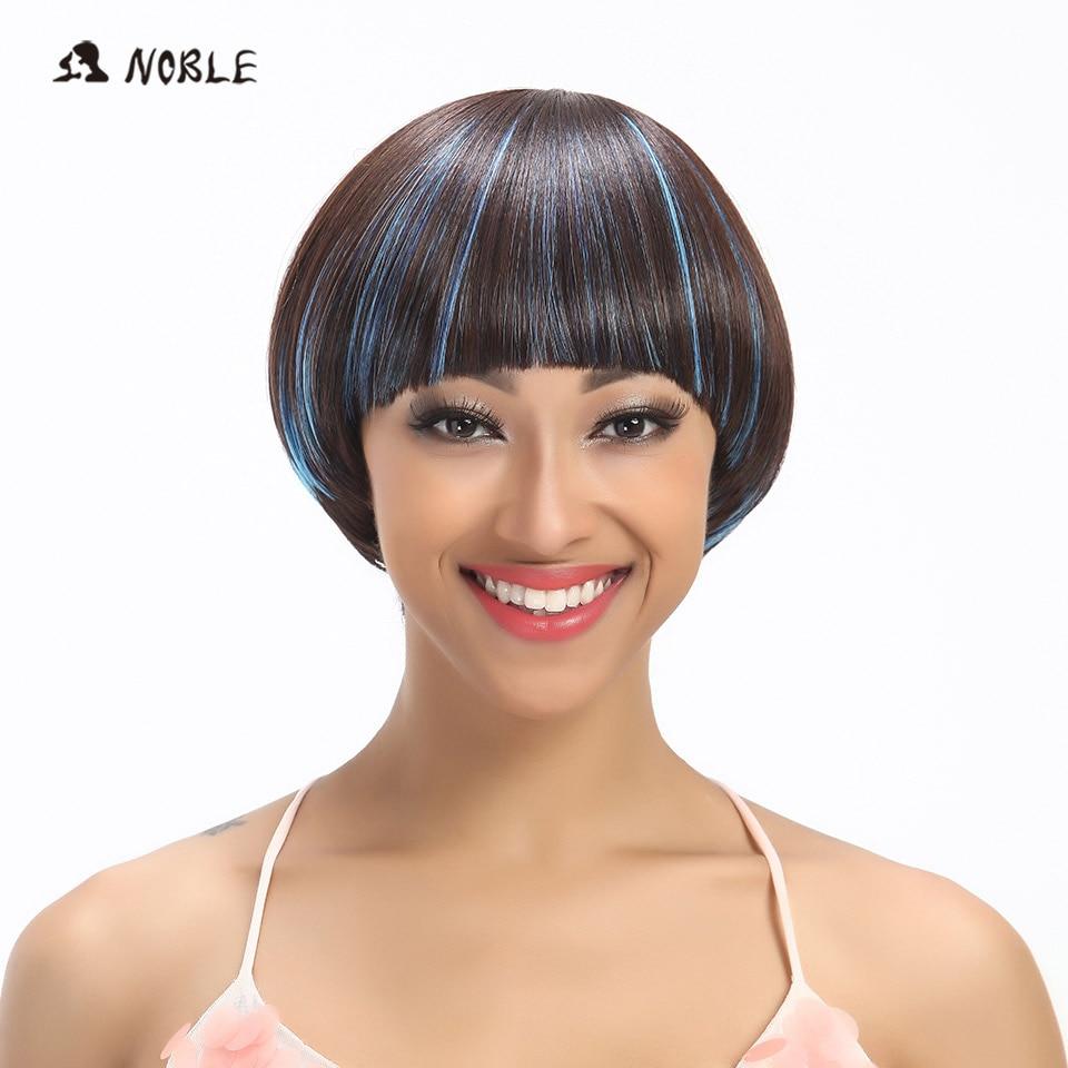 3.Noble 8 Short Bob Wig Strong Beauty High Temperature Fiber Wigs Fiber Heat Resistant 2 Color Free Shipping