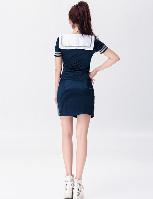 MOONIGHT Singer Stage Show Deep Blue Clothing Outfit Nightclub Performance Wear Singer Lead Dancer Clothing with Bow 5