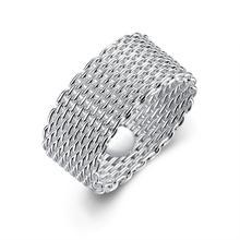 Cor prata Cânhamo Net Anel Mulheres Dedo Partido Jóias Acessórios de Moda