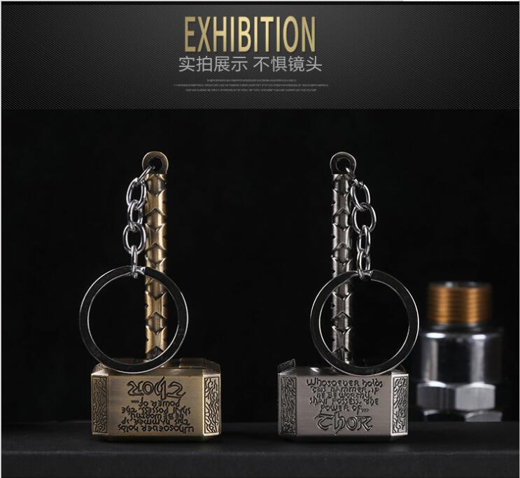 Creative Thors Hammer Usb Charge Electronic Cigarette Lighter Flameless Windproof Keychain Smoking