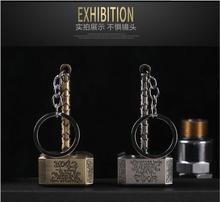 Creative Thor's Hammer Usb Charge Electronic Cigarette Lighter Flameless Windproof Cigarette Lighter Keychain Smoking Lighter
