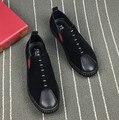 Новый 2017 мужчины бархат мокасины slip on flat повседневная обувь вождения мокасины крутые парни хип-хоп обувь размер 38-44