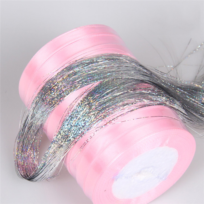 1 Pack Hair Hair Styling Accessories Tinsel Sparkle Holographic Glitter Extensions Highl ...