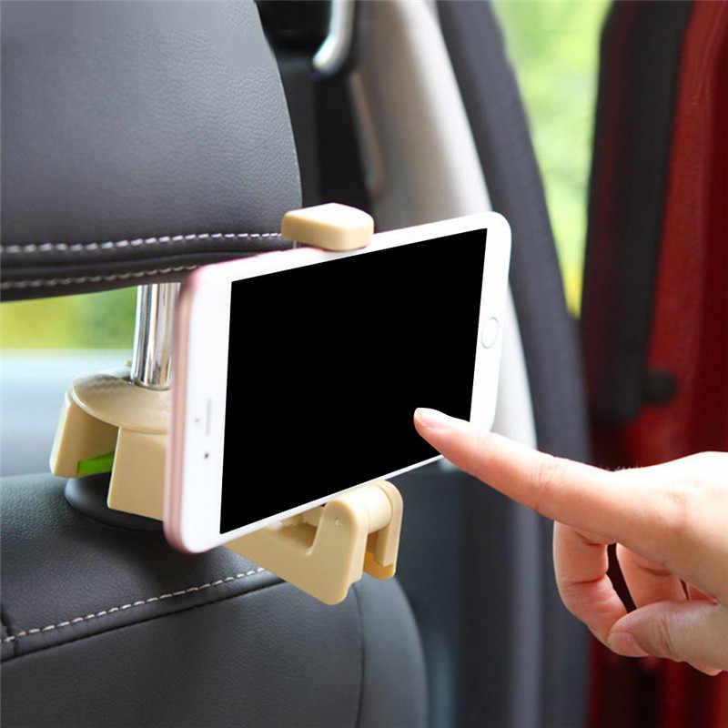 オート車スタンド電話シートヘッドレストハンガーフッククランプサポート自動車電話の車のインテリアアクセサリー