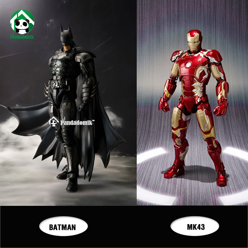 New Iron Man MK43 Batman Action Figure Super Heroes Avengers Kids Toys Action Toy Figures Collectible Gift Toy lps pet shop toys rare black little cat blue eyes animal models patrulla canina action figures kids toys gift cat free shipping