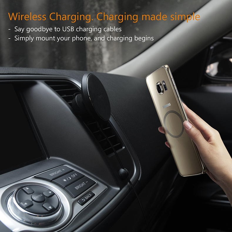 360 Degree Rotation QI Standard Phone Car Magnetic Wireless Charger Air Vent Holder For Samsung Galaxy S8 S8 Plus S7 Edge S7 (15)