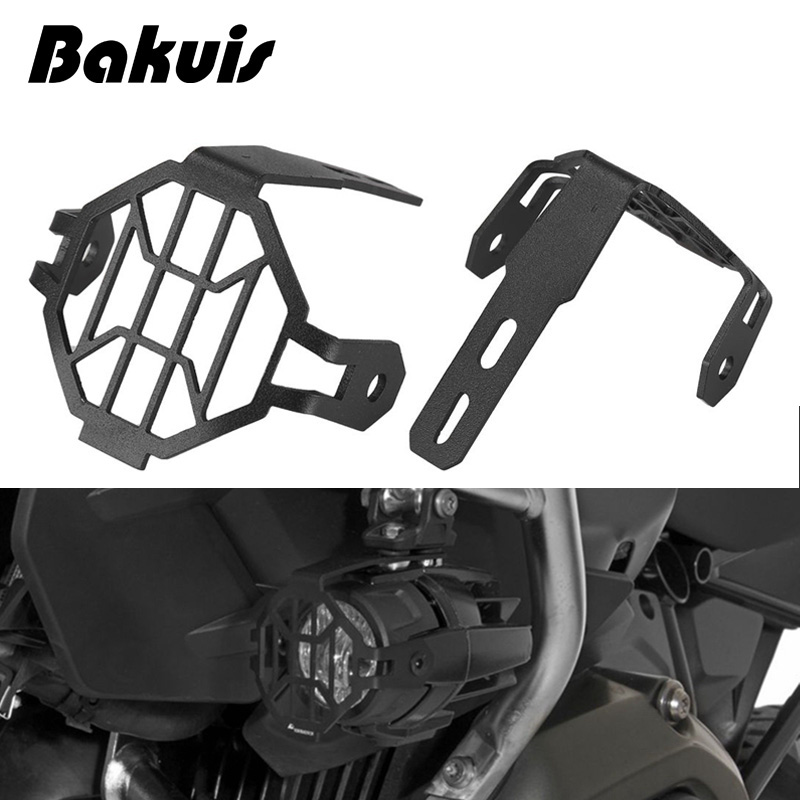 New Protector Guards Cover Black For LED Fog Lights BMW R1200GS F800GS Adventure
