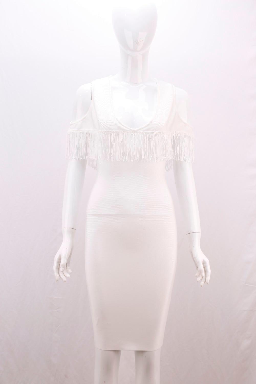 De Robe Célébrité Moulante Sexy Gland Noir Superbe Blanc Partie Bal Femmes Printemps 2018 Bandage twCBBq