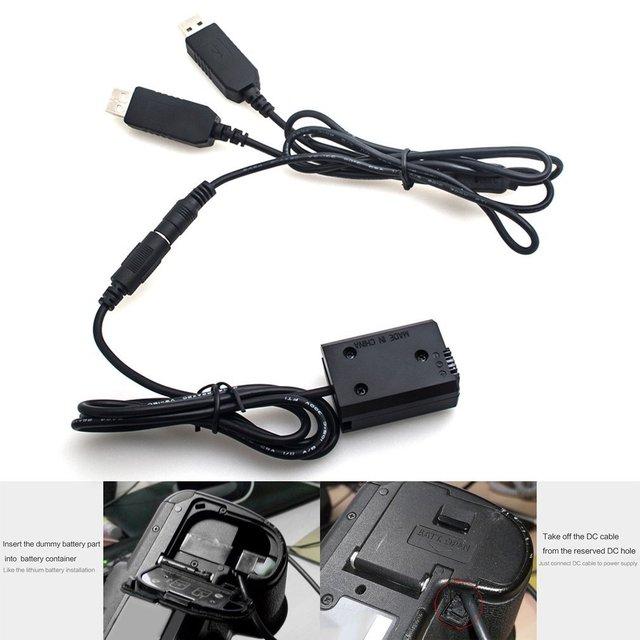 Adaptateur secteur AC-PW20 Kit dalimentation double USB adaptateur secteur remplacement NP-FW50 coupleur cc Kit de batterie factice pour la série Sony