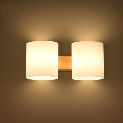 ᗑQuercia Moderna Lampada Da Parete in legno Luci Per Camera Da ...