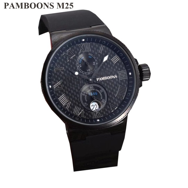 Luxury Brand Skeleton Square Mechanical Watches GOOD Leather Gold Automatic Watch Men Waterproof Casual Wrist Watches Reloj Homb original binger mans automatic mechanical wrist watch date display watch self wind steel with gold wheel watches new luxury