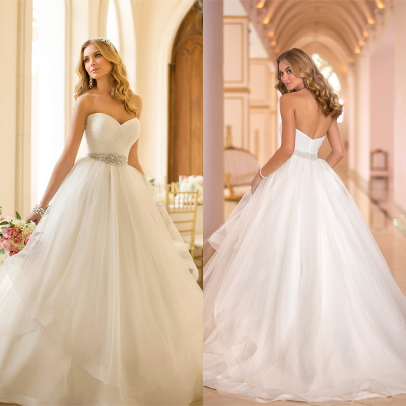 Plus size wedding dresses custom made : Custom made ball gown sweetheart tulle plus size wedding