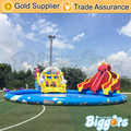 Free Sea Shipping Giant Durable Kids Hinchables Inflatable Bounce House Water Slide