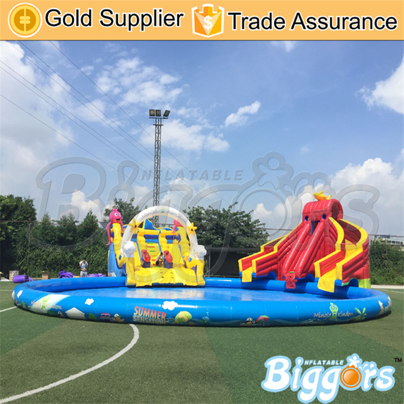free sea shipping giant durable kids hinchables inflatable bounce house water slide - Water Slide Bounce House