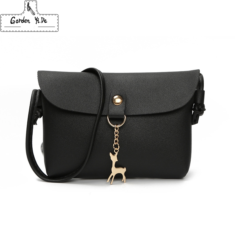 Women Leather Small Shoulder Bag 2019 Fashion Women Cross Body Bag With Deer Toy Ladies Party Purse Clutches Mini Handbag #W0077