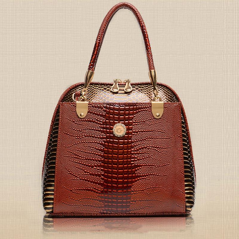2018 women Alligator leather handbag PU leather women handbag british style shoulder bag crossbody women tote bags W0136 все цены