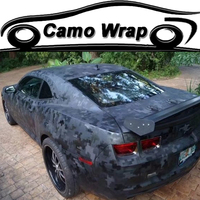 Black Grey Vinyl Digital Car Wrap Film For Full Car Body Decorative Motorbike Adhesive Sticker Foil Wrapping With Bubble Free