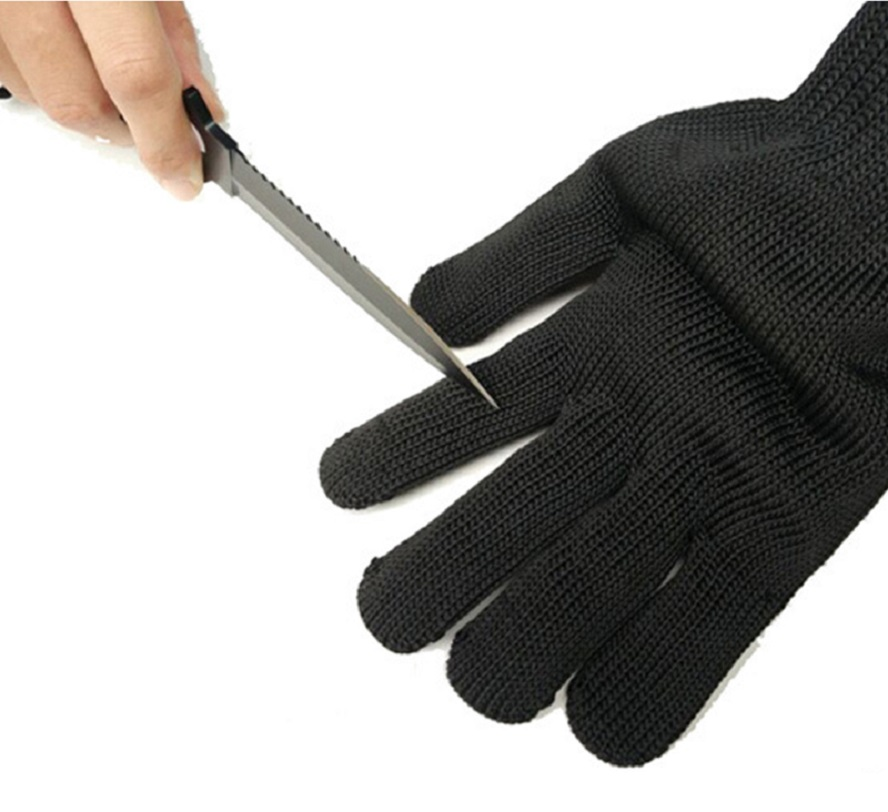 IMPORX 1/Pair Black Working Safety Gloves Cut-Resistant Protective Stainless Steel Wire Butcher Anti-Cutting Gloves 1pcs safety gloves cut proof stab resistant stainless steel wire metal mesh butcher anti knife