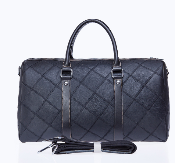 New Exquisite Genuine Leather Lattice Male Travel Bag Fashion Portable Large Capacity Outdoor Luggage Bag retro Duffle bag C257 new playeagle waterpoof pu leather golf boston bag golf clothing bag large capacity travel bag with shoes pocket oem logo