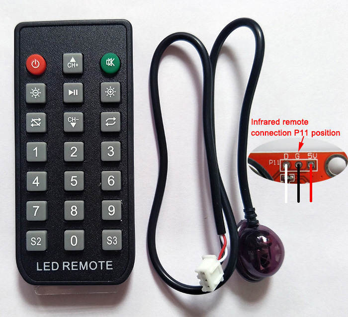 HUIDU Single And Double Color LED Control Card Infrared Remote Control, Suitable For Program Page Turning