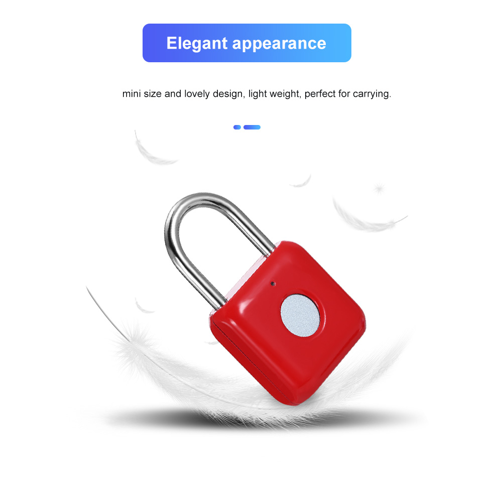 Image 3 - USB Charging Keyless Fingerprint Padlock Intelligent Electronic Non password Finger Touch Lock Biometric Unlock Waterproof-in Electric Lock from Security & Protection