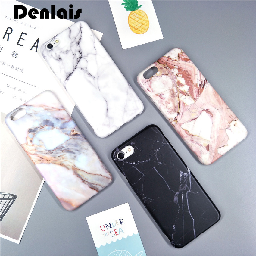 Luxury Marble Housing Cover For iPhone 7 Case Silicone Soft IMD Granite Phone Cases For iPhone 7 7plus Coque Funda Capa