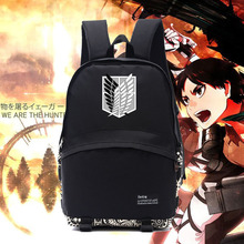 New Attack on titan backpack Attack on titan emblem logo Survey Legion backpacks freedom wings bags for anime fans school NB010