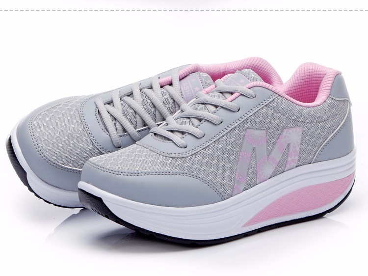 Slimming Shake shoes Women Fashion Breathable Mesh Casual Shoes Spring Summer Lace Up Women Swing Shoes Platform Trainers YD52 (19)