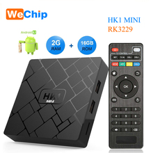 Wechip Android 8.1 Smart TV BOX HK1 mini 2 gb 16 gb Rockchip RK3229 Quad core 2.4g WIFI Médias lecteur H.265 HEVC 4 k 3D Set Top Box(China)