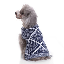 TINGHAO Pet Vintage Diamond Pattern Dog Puppy Cat Kitten Sweater Winter Jumper Clothes(China)