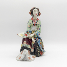Pure Manual Painted Glazed Ceramic Chinese Style Statue Figurine Qin Keqing Characters Of A Dream Red Mansions Crafts