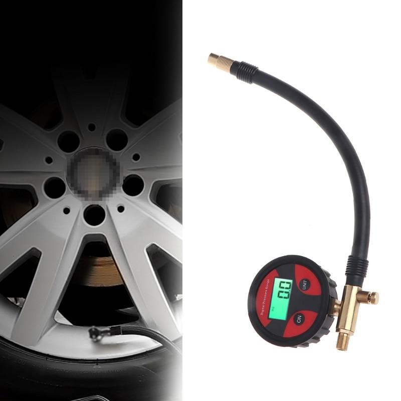 0-200PSI Numérique Pneu de Pneu Air Pressure Gauge LCD Manomètre Voiture Camion Moto L15