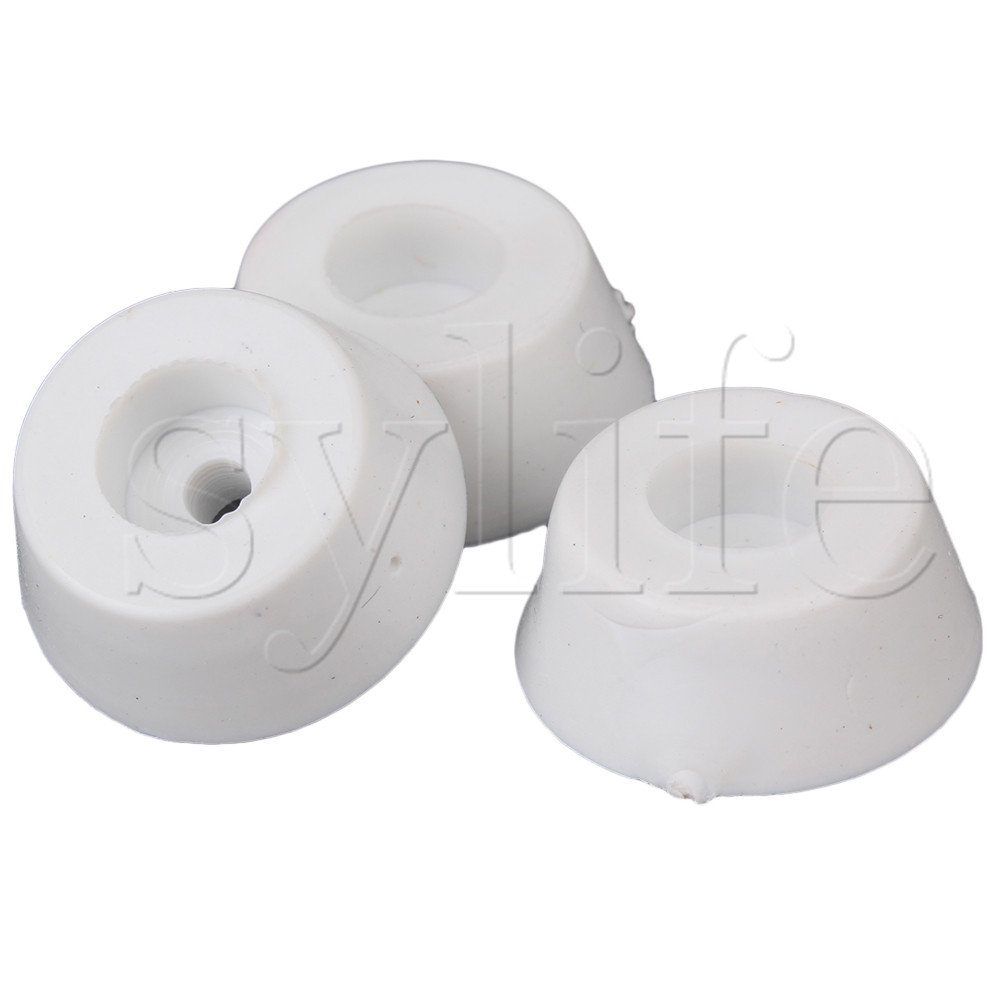 Cabinet Furniture Recessed Rubber Feet Pad Table Desk Bumpers Covers Protector 20 X 15 X 8mm White Pack Of 10