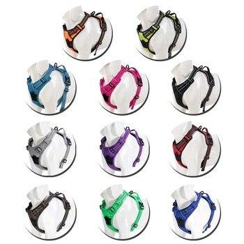 Gepolstertes Geschirr aus Nylon in 11 Farben/Muster mit reflektierenden Nahtstreifen
