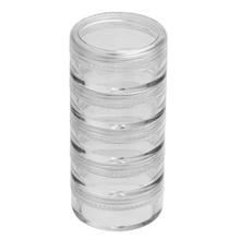 25pcs Powder Paillette Rhinestone Storage Plastic Box Case Nail Art Cosmetic Empty Jar Pot Makeup Face Cream Container Bottle