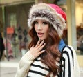2016 Fashion Winter Outdoor Warm Hats For Women Solid Thick Fur Snow Hat Wool Hat Scarf Dual Models  Ear Protection Gorras