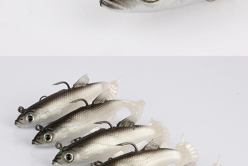 goture 5 шт./лот серый мягкие приманки 8.5 см 13 г воблеры силиконовые приманки блесна для рыбалки китай бас ловли карпа свинец рыбы