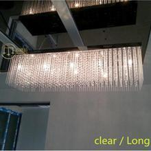 Milan luz de la cocina de cristal rectangular grande negro púrpura de cristal G4 llevó luces pendientes comedor Bar Restaurante de la lámpara del lustre
