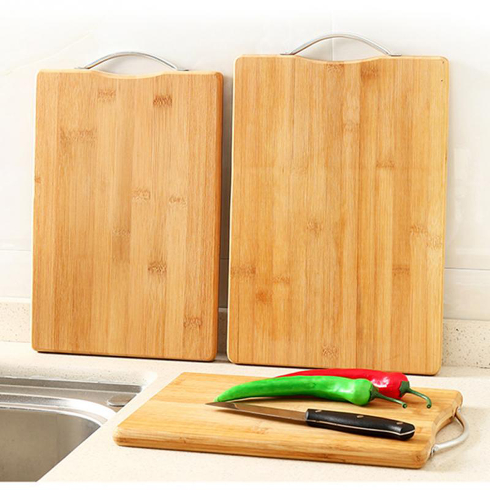 1pc Bamboo Chopping Blocks Mat Kitchen Food Plate Fruit Thicken Anti-slip Easy Clean Cutting Boards Kitchen Tools(China)