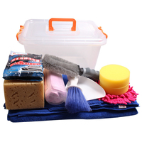 13pieces/pack Automobiles Waxing Sponge Car Wash Supplies Set Car Wash Tools Towel with Dressing Box auto accessories para autos