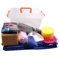 13pieces/pack Automobiles Waxing Sponge Car Wash Supplies Set Tools Towel with Dressing Box auto accessories para autos