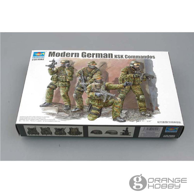 a5b011cef4a8 OHS Trumpeter 00422 1 35 Modern German KSK Commandos Miniatures Assembly  Military figures Model Building Kits oh