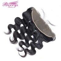 [Berrys Fashion] Brazilian Lace Frontal Virgin Hair 13x4